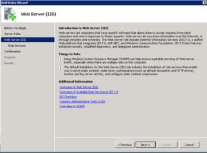 Web Server Information