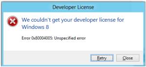 developer license Issue
