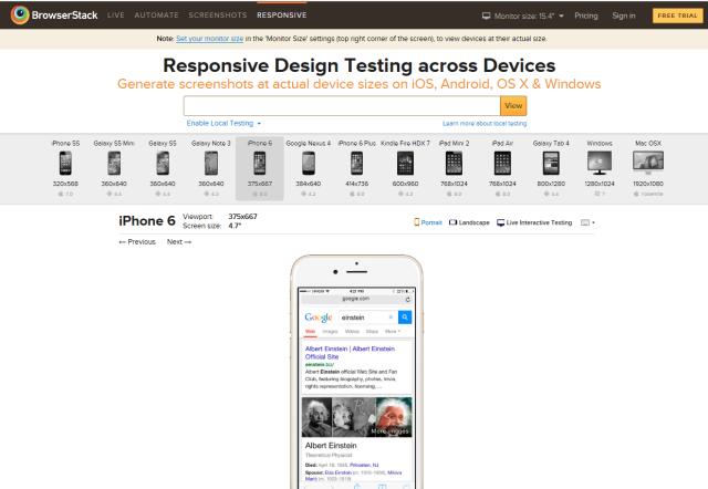 Responsive Design Testing - BrowserStack